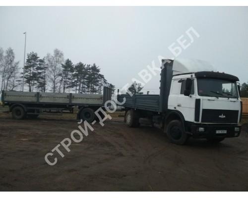 Автоуслуги МАЗ 5336 гп 10 тонн, 8 поддонов (р-р 6,5*2,4 м) (км)