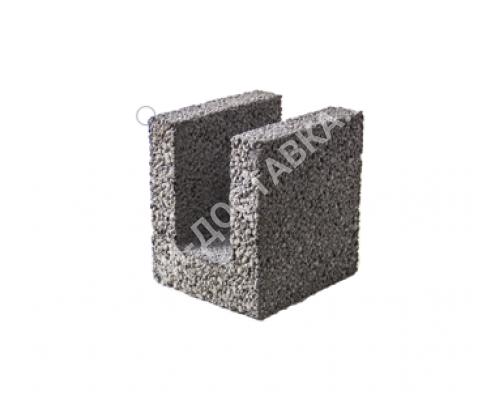 Керамзитобетонные блоки строительные «ТермоКомфорт» для перемычек шириной 200 мм (отгрузка кратно поддону с завода) 225*200*240 мм