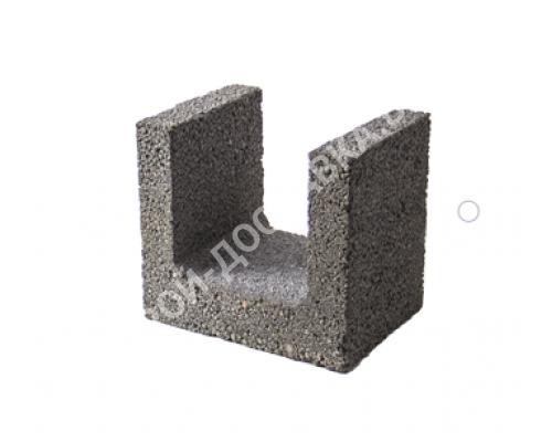 Керамзитобетонные блоки строительные «ТермоКомфорт» для перемычек шириной 300 мм (отгрузка кратно поддону с завода) 225*300*240 мм