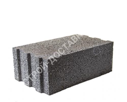 Керамзитобетонные блоки строительные «ТермоКомфорт» полнотелые толщина 250 мм (отгрузка кратно поддону с завода) 490*250*185 мм