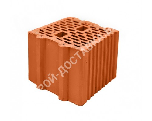 Блок керамический поризованный пустотелый паз гребень 250х250х219