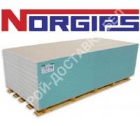 Гипсокартон NORGIPS влагостойкий 12,5х1200х3000 мм. Польша.