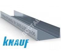 Профиль Knauf для гипсокартона UW: 100х40. Длина 3 м. Толщина – 0,6 мм.