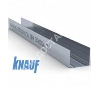 Профиль Knauf для гипсокартона UW: 75x40. Длина 3 м. Толщина – 0,6 мм.