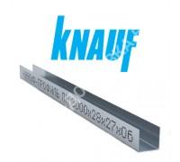Профиль KNAUF для гипсокартона UD: 27x28. Длина 3 м. Толщина – 0,6 мм.