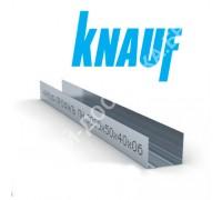 Профиль Knauf для гипсокартона UW: 50x40. Длина 3 м. Толщина – 0,6 мм.