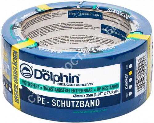Лента малярная ПВХ голубая Blue Dolphin 50м х 48 мм. Польша.