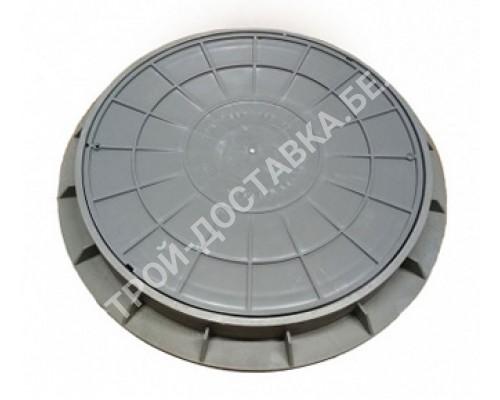 Люк пластиковый серый 1,5 т