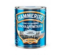 Краска по металлу Hammerite (0,75 л) (гладкая серебристая)