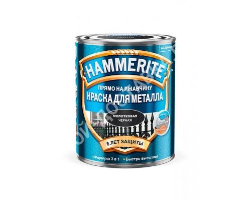 Краска по металлу Hammerite (0,75 л) (молотковая черная)