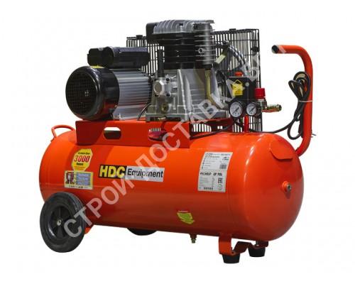 Компрессор HDC HD-A071 (396 л/мин, 10 атм, ременной, масляный, ресив. 70 л, 220 В, 2.20 кВт)