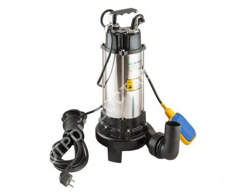 Насос погружной для грязной воды, нерж. ECO DI-1301, 1300 Вт, 23000 л/ч, до 12 м (С измельчителем, 1300 Вт, 23000 л/ч, до 12 м,)