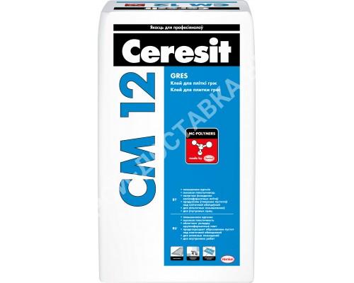 CM12. Для греса. Ceresit, РБ. 25 кг.