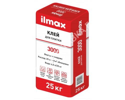Клей для плитки ilmax 3000. РБ. 25 кг.