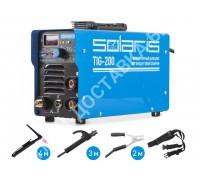 Инверторный аппарат аргонодуговой сварки SOLARIS TIG-200 + AK (TIG-MMA) (DC Lift TIG; MMA; 200 A; 230 В)