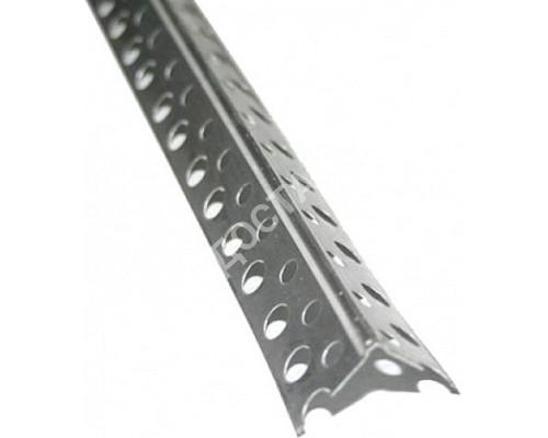 Угол оцинкованный перфорированный жёсткий 2,5 м.