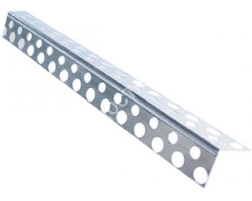 Угол перфорированный алюминиевый 2,5 м.