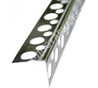 Угол алюминиевый перфорированный жесткий. Длина 3м.