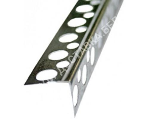 Угол алюминиевый перфорированный жесткий. Длина 2,5м.